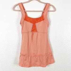 Lucy Coral Stretchy Sleeveless Tunic Women's Top